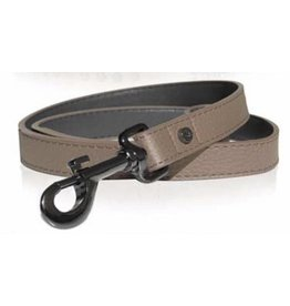Leather dog leash slam tan brown Milk & Pepper