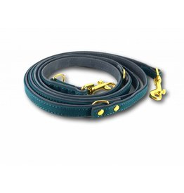 SIMPLY SMALL Leather leash - teal green - SIMPLY SMALL