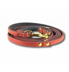 SIMPLY SMALL Leather leash - salmon pink - SIMPLY SMALL