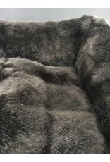 SIMPLY SMALL Luxus Hundebett Fell/Leder Dunkelbraun