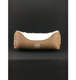 SIMPLY SMALL Luxurious Dog bed - Cognac brown - SIMPLY SMALL