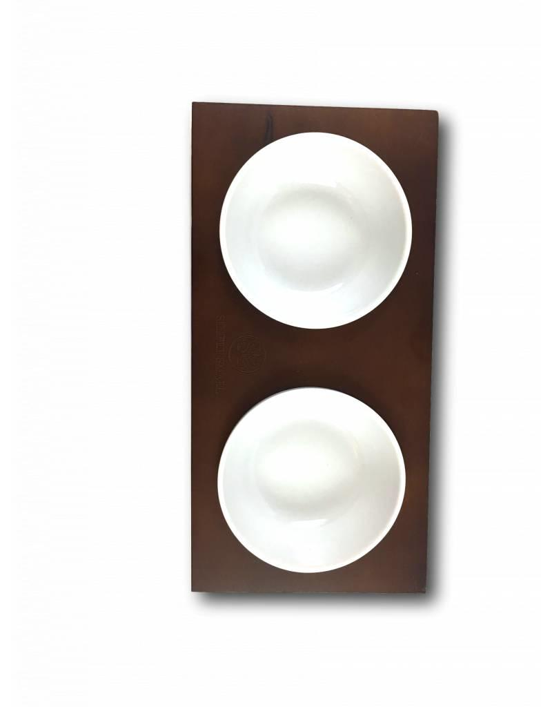 SIMPLY SMALL Feeding bowl - wood and ceramic - chocolate - SIMPLY SMALL