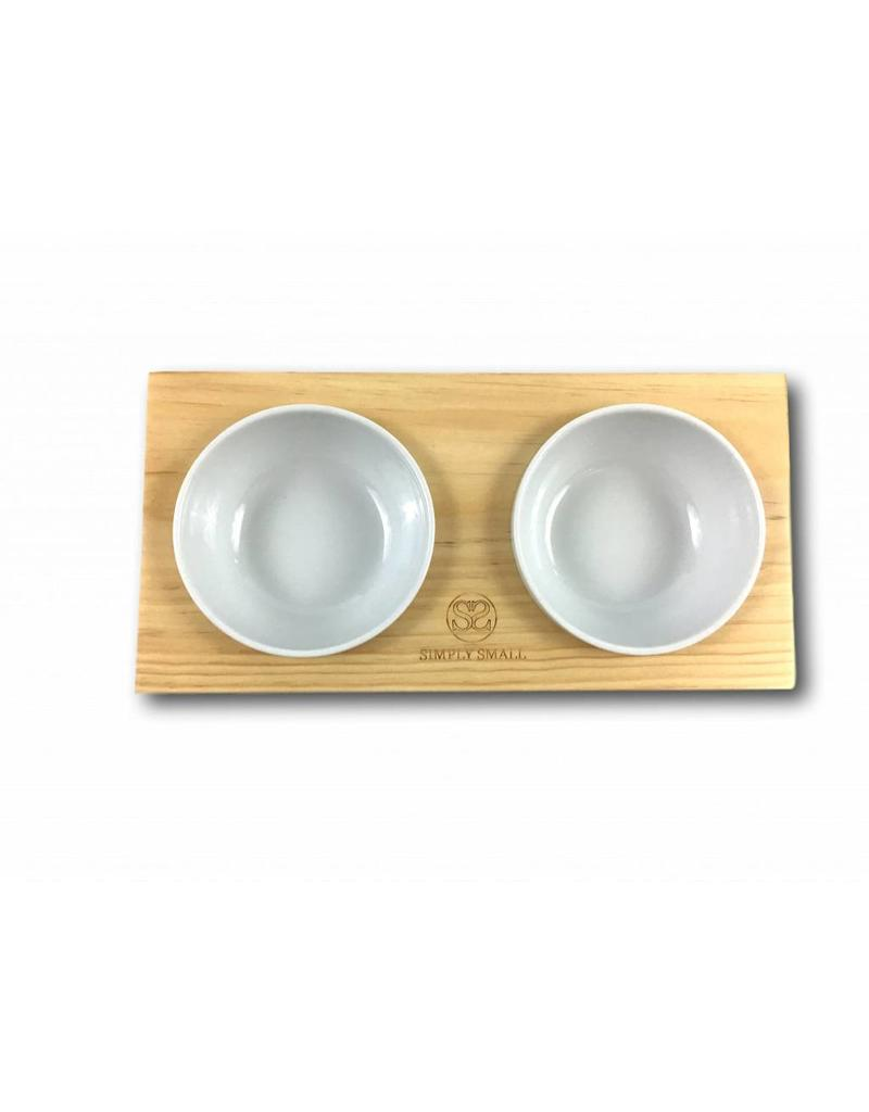 SIMPLY SMALL Feeding bowl - wood and ceramic - Oak - SIMPLY SMALL