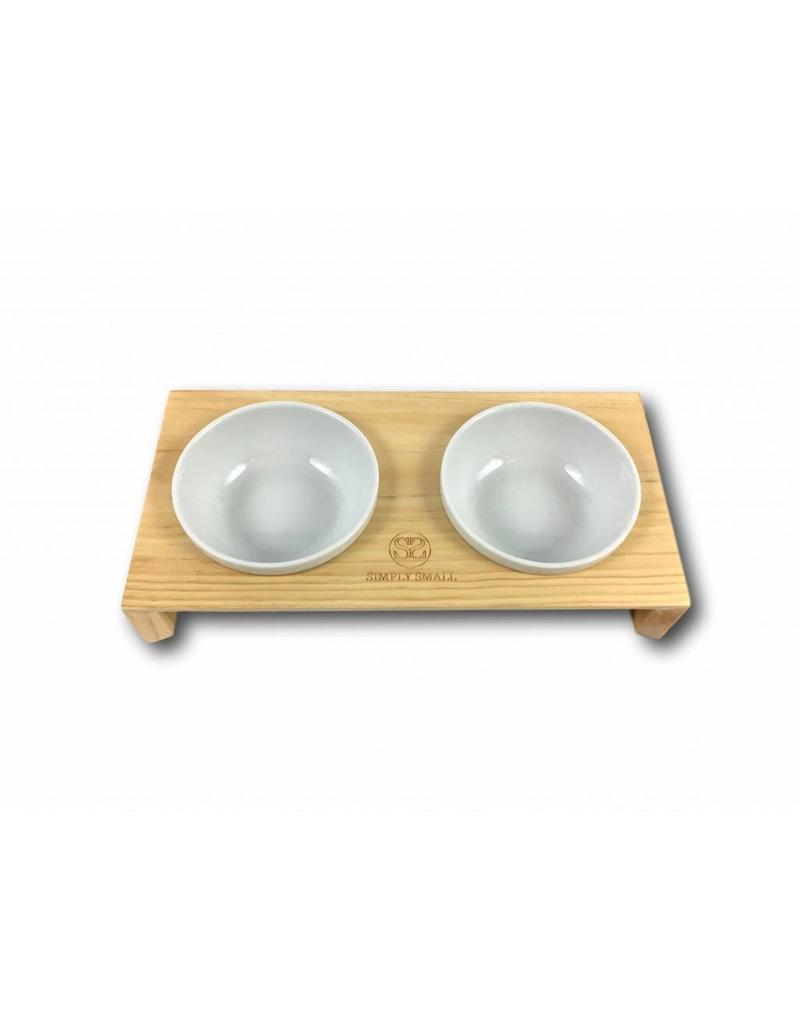 SIMPLY SMALL SIMPLY SMALL Futternapf aus Keramik und Holz - Oak