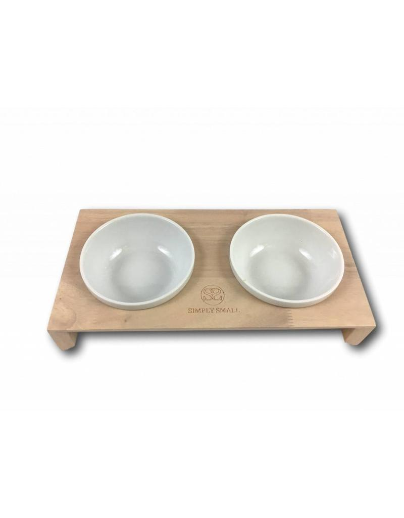 SIMPLY SMALL Feeding bowl - wood and ceramic - Ash - SIMPLY SMALL
