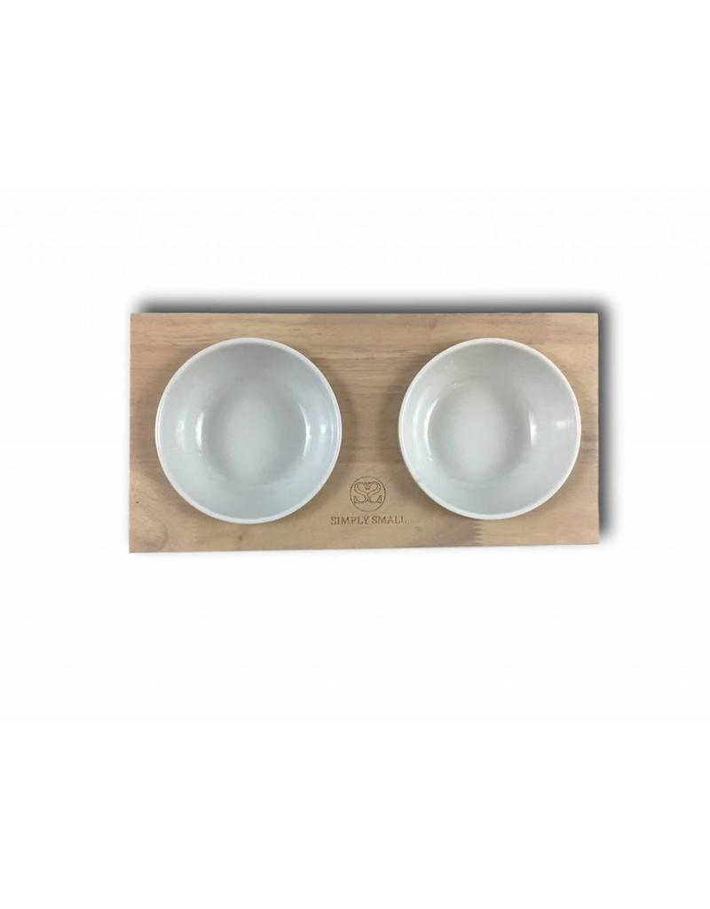 SIMPLY SMALL Futternapf aus Keramik und Holz - Ash - SIMPLY SMALL