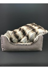 SIMPLY SMALL Luxurious dog bed faux fur/faux leather - Chinchilla