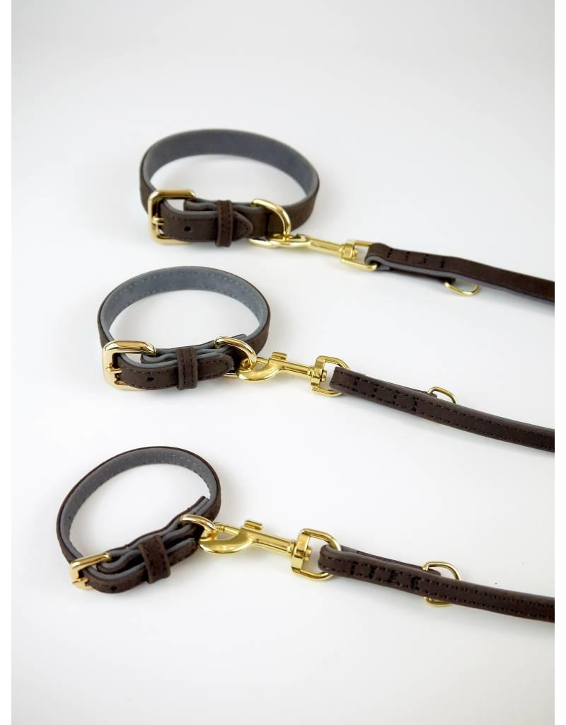 SIMPLY SMALL Leather collar - mocha brown - SIMPLY SMALL