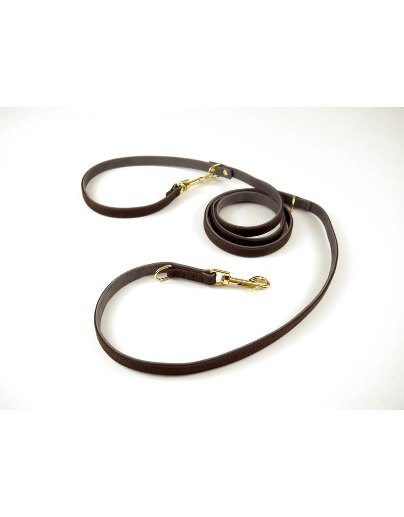 SIMPLY SMALL Leather dog leash - mocha brown - SIMPLY SMALL