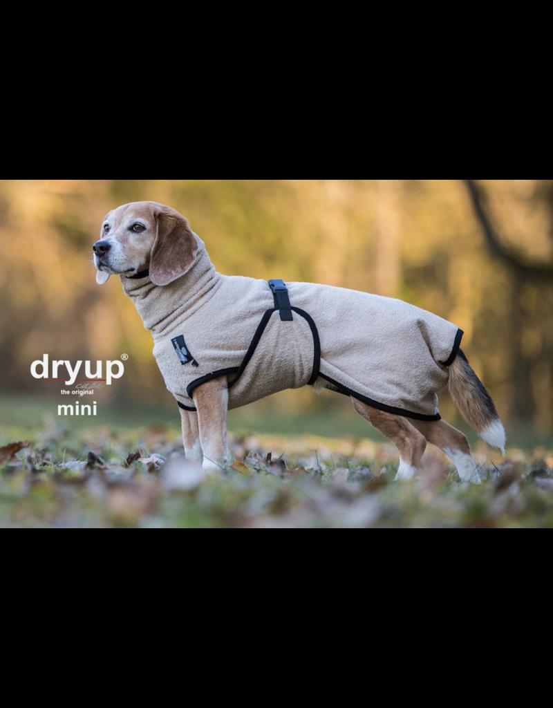 DRYUP Cape Mini, Sand,  Trockencape, Hundebademantel für kleine Hunde