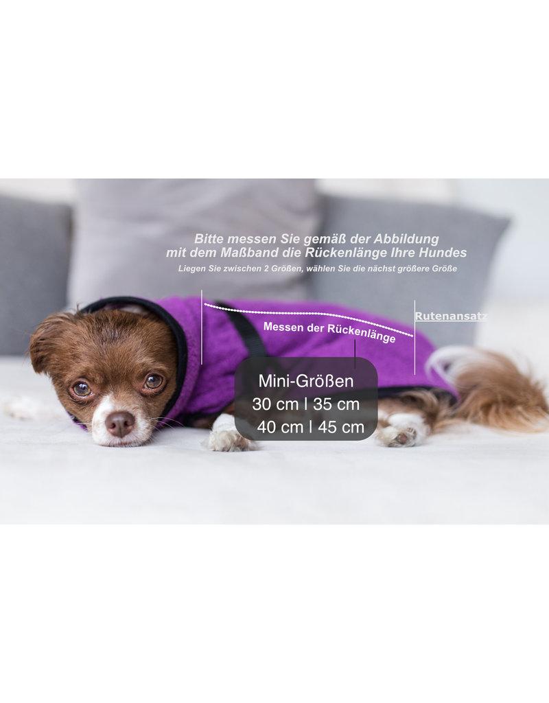 DRYUP Cape Mini, Trockencape, Hundebademantel für kleine Hunde - Blueberry Blau