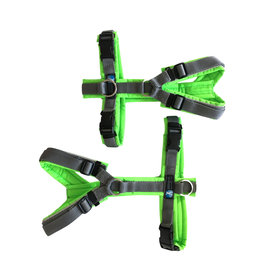Anny X AnnyX harness for small dogs, neon green/grey