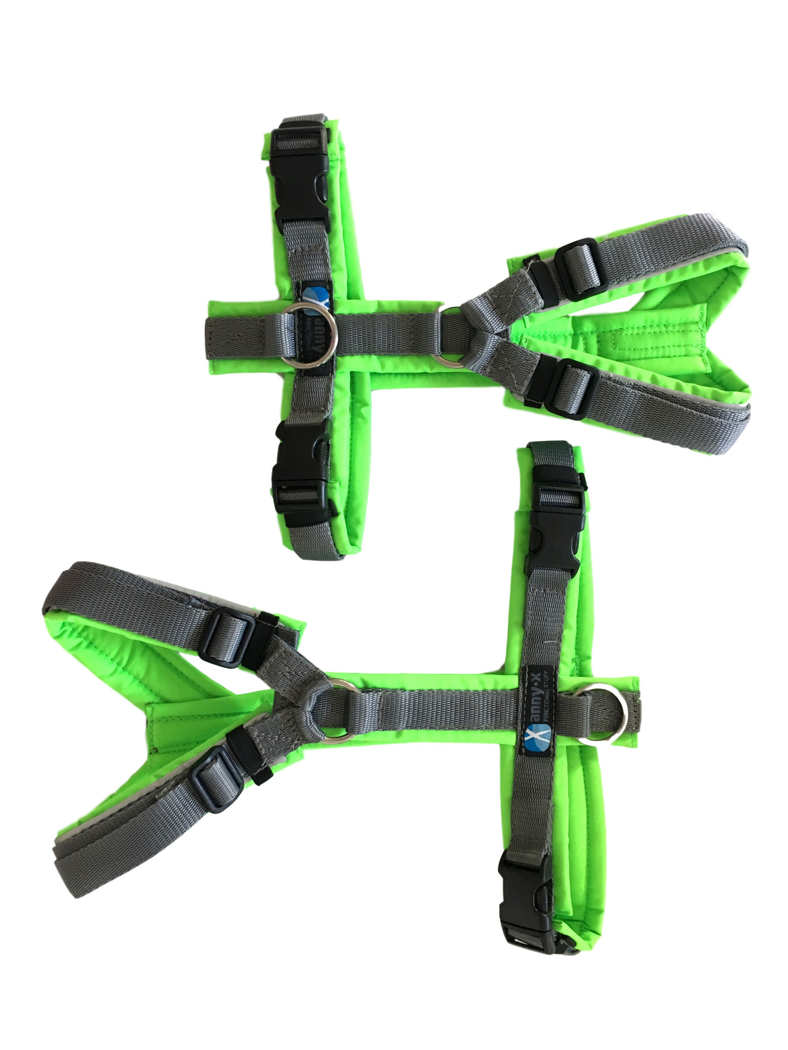 Annyx Harness For Small Dogs Neon Green And Grey Simply Small