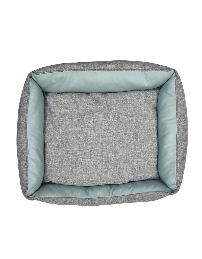 Dog bed grey / turquoise