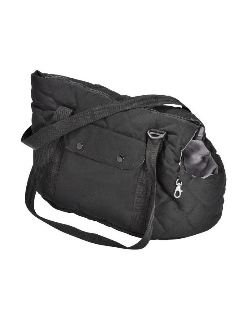 Dog carrier Bobby black/grey