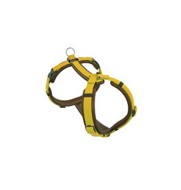 Dogfellow dog harness - brown/yellow
