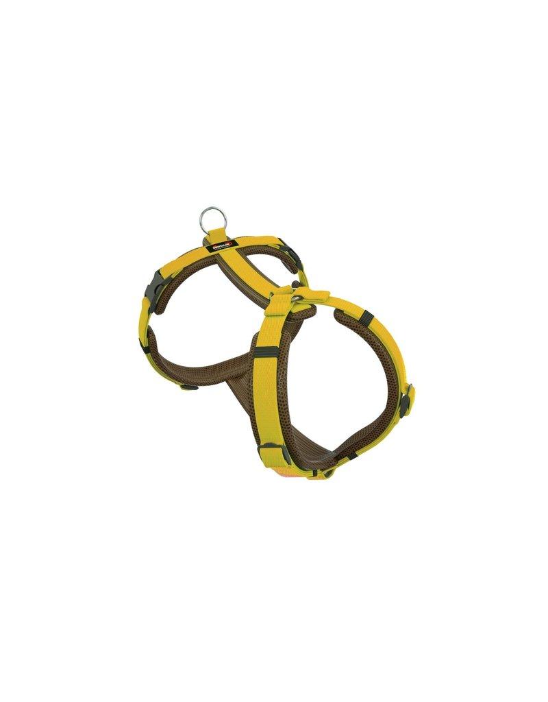 Dogfellow Brustgeschirr für kleine Hunde - braun/gelb
