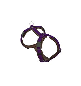 Dogfellow dog harness - brown/purple