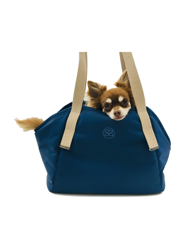 SIMPLY SMALL Exklusive Hundetragetasche von Simply Small - Dunkelblau