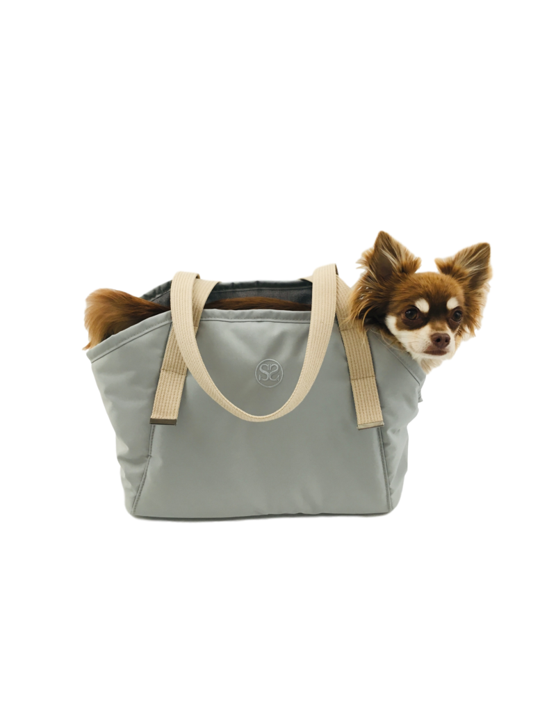 SIMPLY SMALL Exclusive dog carrier by Simply Small - light grey
