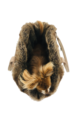 SIMPLY SMALL Luxurious fur dog carrier