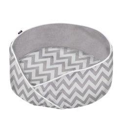 Dog bed 2boho style - grey/white
