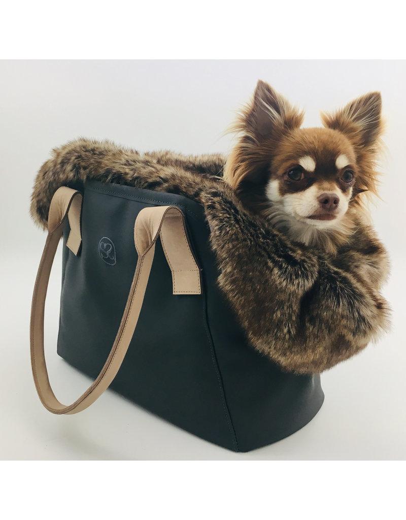 SIMPLY SMALL Luxuriöse Hundetasche mit Fell