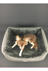 SIMPLY SMALL Dog bed faux fur/faux leather - black - SIMPLY SMALL