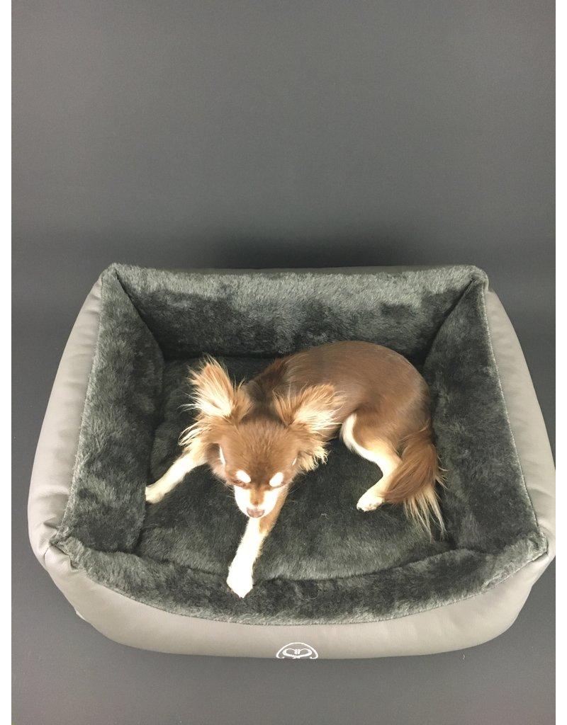 SIMPLY SMALL Hundebett Webpelz/Kunstleder - schwarz - SIMPLY SMALL