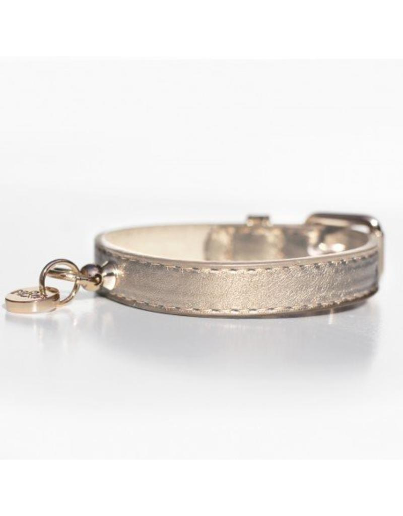 Hundehalsband Gold Metallic Milk & Pepper