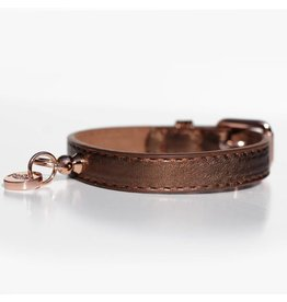 Hundehalsband Shine Copper Bronze Metallic Milk & Pepper