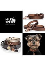 Dog leash bronze metallic Milk & Pepper