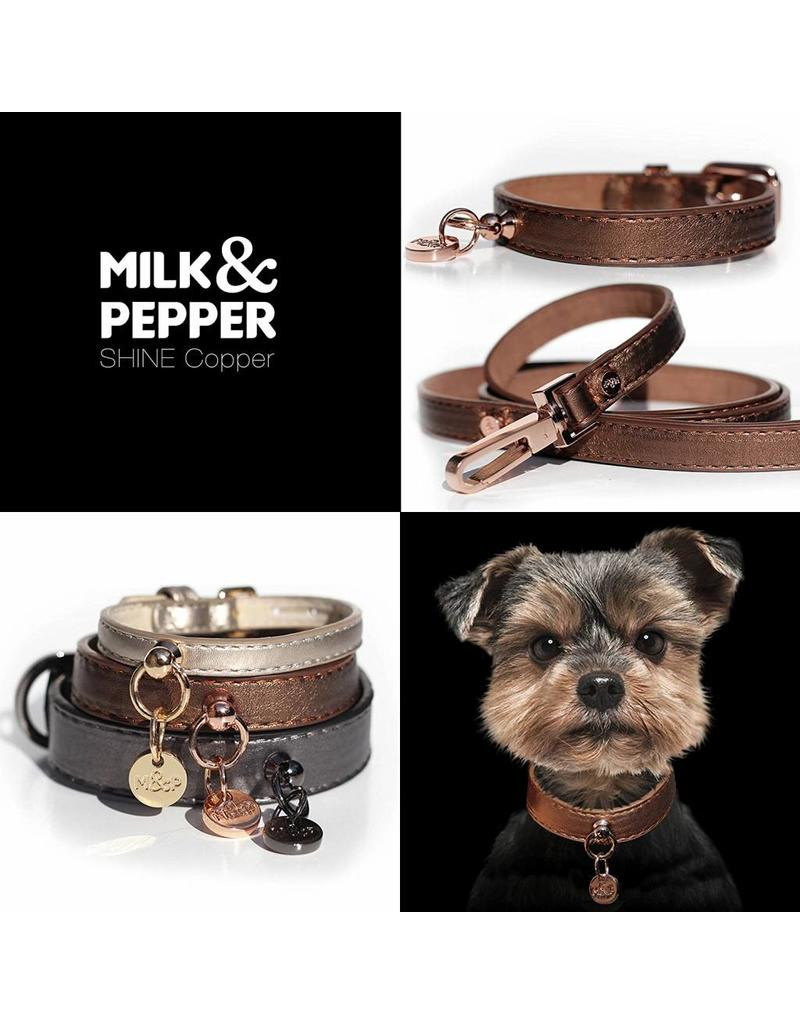Dog leash bronze metallic Milk & Pepper