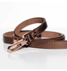 Dog leash shine copper bronze metallic Milk & Pepper