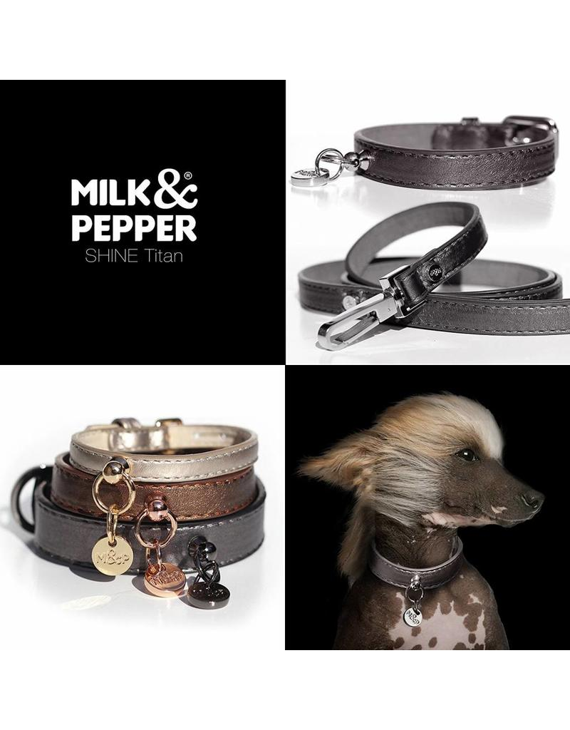 Dog leash titan black metallic Milk & Pepper