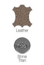 Leather collar Zak Tan with rivets Milk & Pepper
