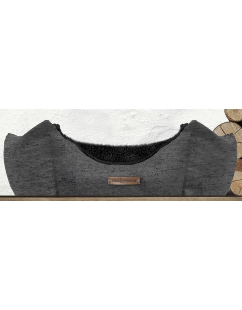Dog bed dark gray round Milk & Pepper