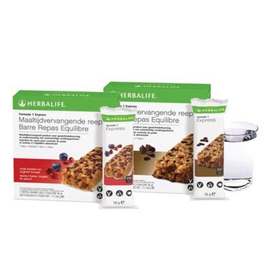 Herbalife maaltijdvervangende reep Rood fruit en Yoghurt