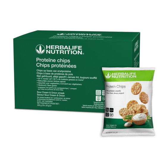 Proteïne chips Sour Cream & Onion (10 zakjes)