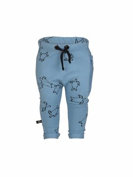 nOeser Fun Sweatpants blauw met schildpadden-print