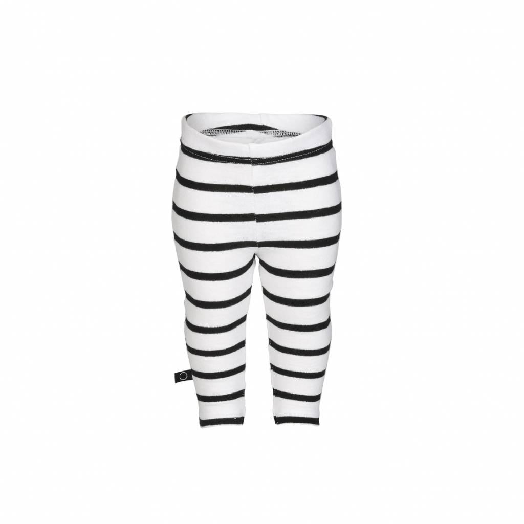 nOeser Legging black white stripes