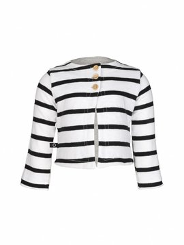 nOeser cardigan black white stripes