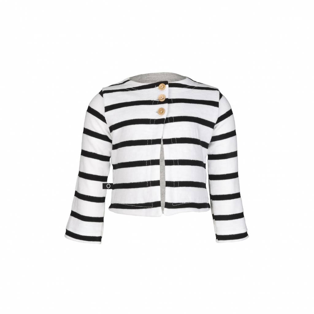 nOeser cardigan black white stripes