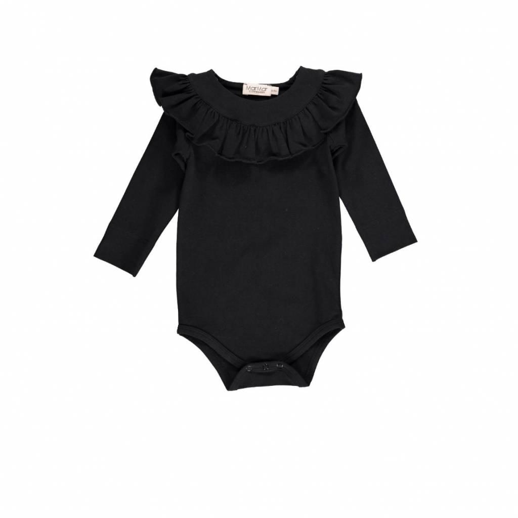 MarMar Copenhagen Body with ruffles - black