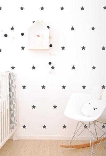 Muurstickers – sterren zwart