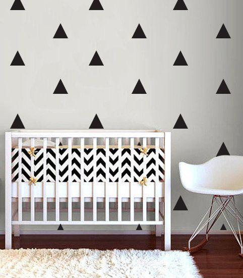 Wall stickers triangle - black