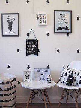 Wall stickers drops - black