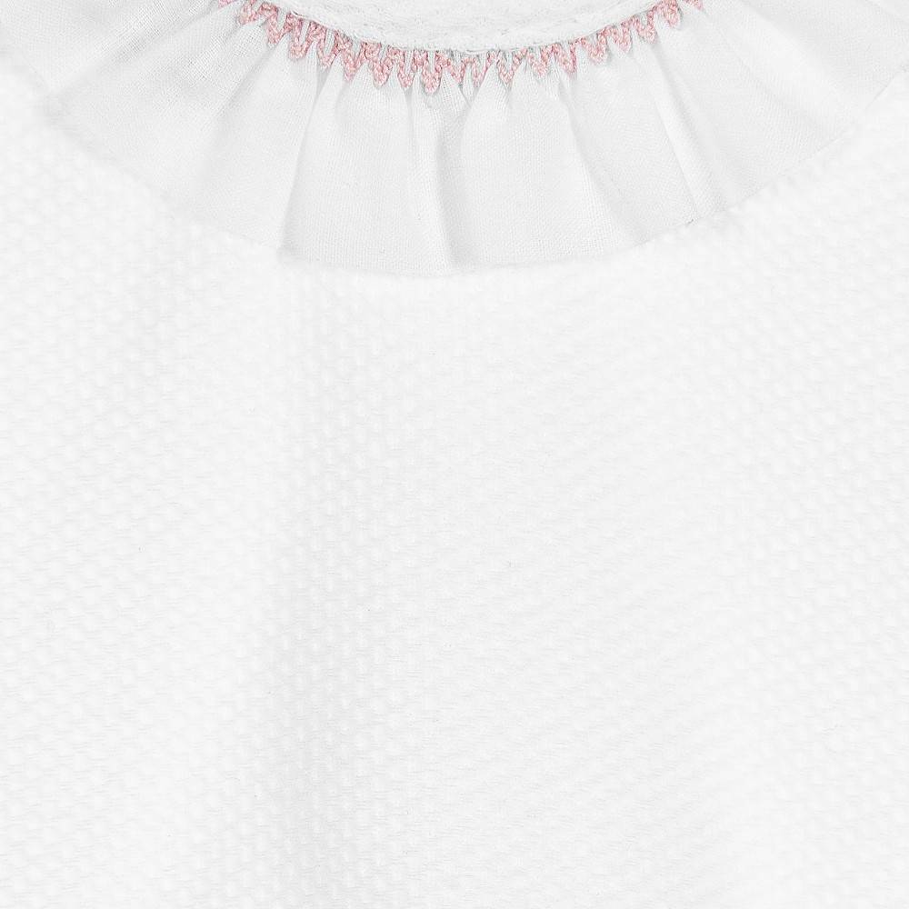 Babidu Short baby dress with collar and bloomer