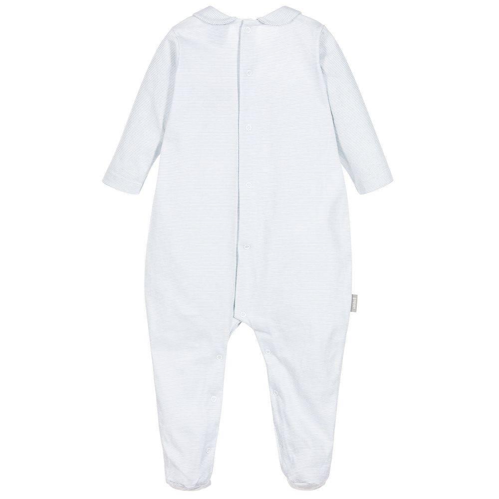 Babidu Babysuit blue white stripes