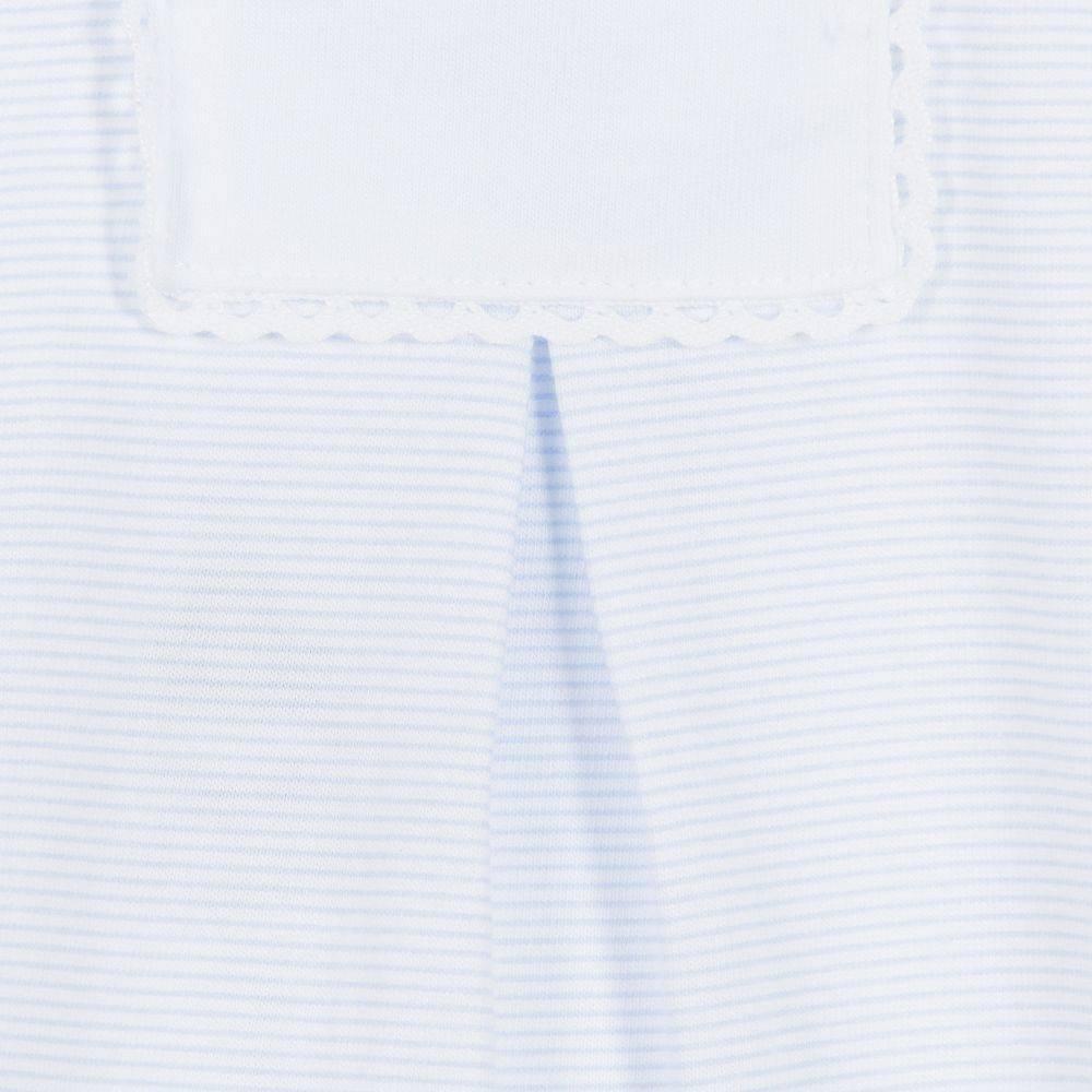 Babidu Baby set blue white stripes - top and pants